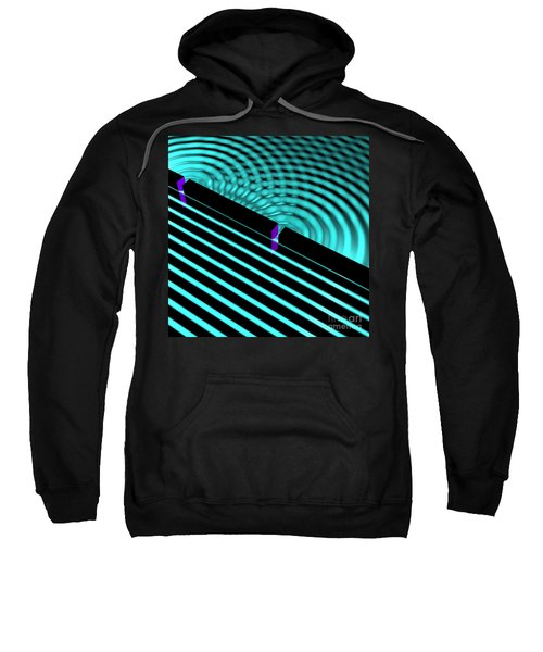 Waves Two Slit 4 Sweatshirt