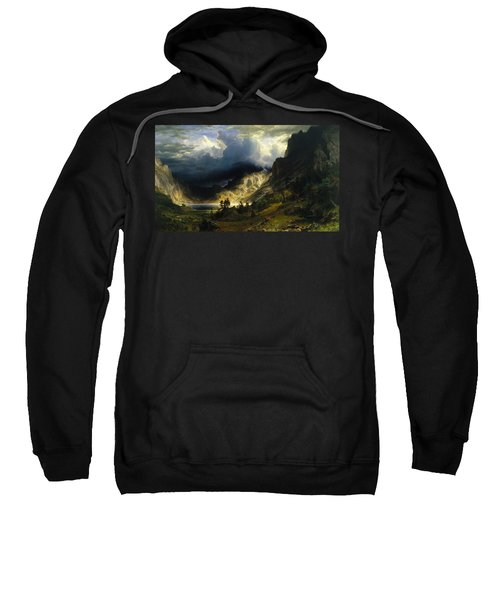 A Storm In The Rocky Mountains Mt. Rosalie Sweatshirt