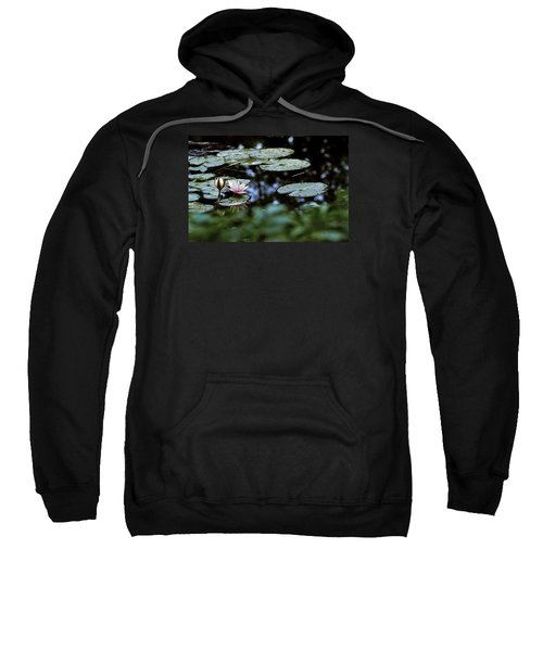 Sweatshirt featuring the photograph At Claude Monet's Water Garden 6 by Dubi Roman