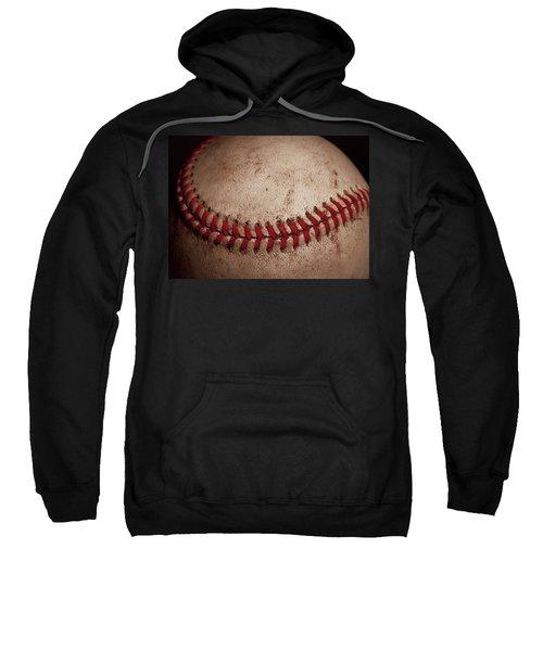 Sweatshirt featuring the photograph Baseball Seams by David Patterson