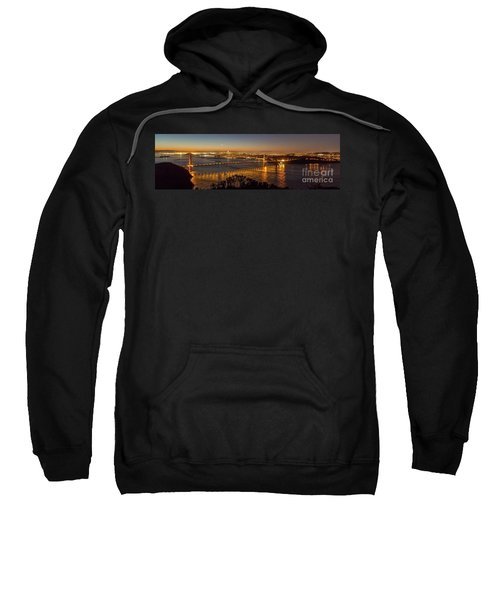 Downtown San Francisco And Golden Gate Bridge Just Before Sunris Sweatshirt