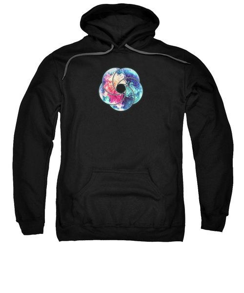Geometry Triangle Wave Multicolor Mosaic Pattern  Hdr  Low Poly Art Sweatshirt