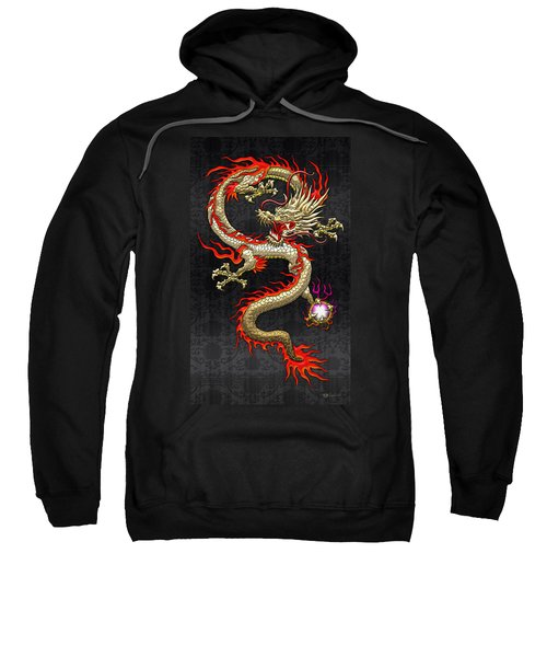 Golden Chinese Dragon Fucanglong  Sweatshirt