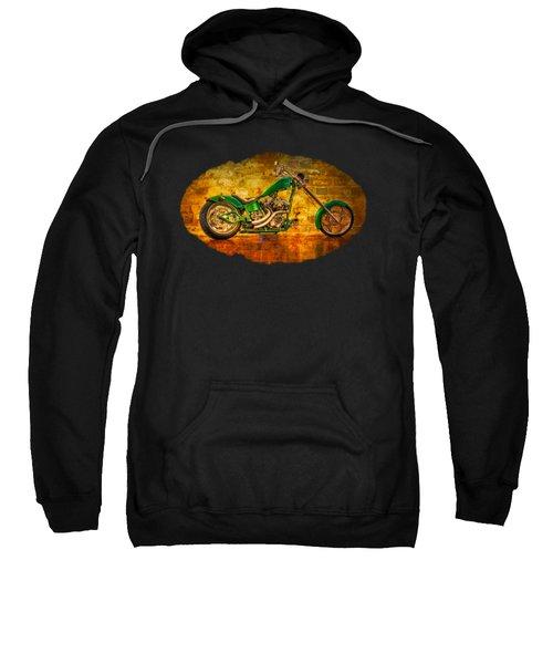 Green Chopper Sweatshirt by Debra and Dave Vanderlaan