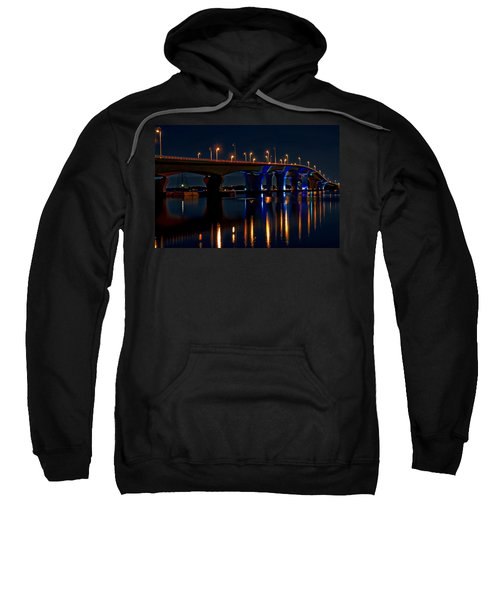Hathaway Bridge At Night Sweatshirt