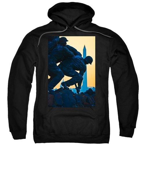 Iwo Jima Memorial At Dusk Sweatshirt
