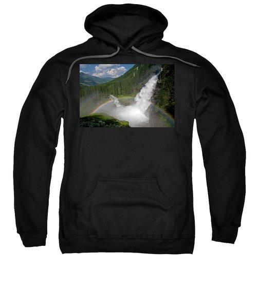 Krimml Waterfall And Rainbow Sweatshirt