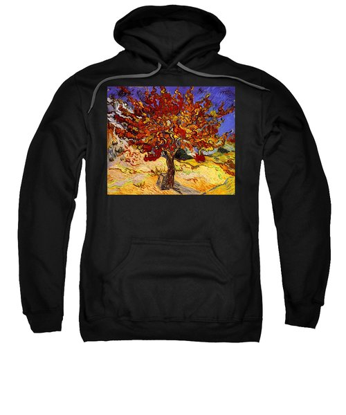 Sweatshirt featuring the painting Mulberry Tree by Van Gogh