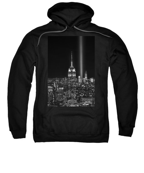 New York City Tribute In Lights Empire State Building Manhattan At Night Nyc Sweatshirt