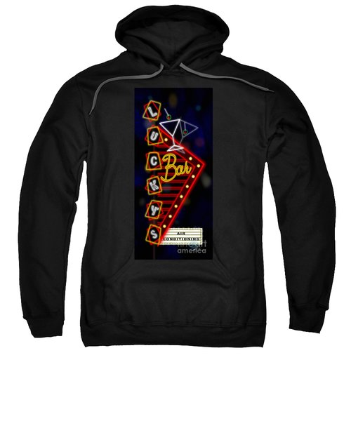 Nightclub Sign Luckys Bar Sweatshirt