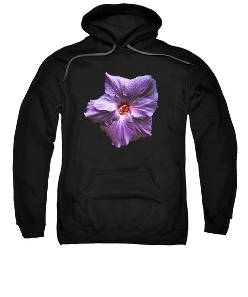 Purple Hibiscus Sweatshirt