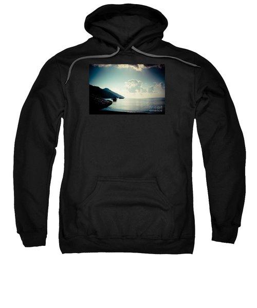 Seascape Sunrise Sea And Clouds  Sweatshirt