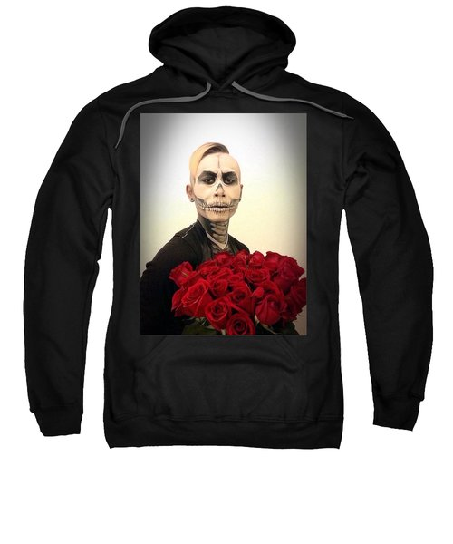 Skull Tux And Roses Sweatshirt by Kent Chua