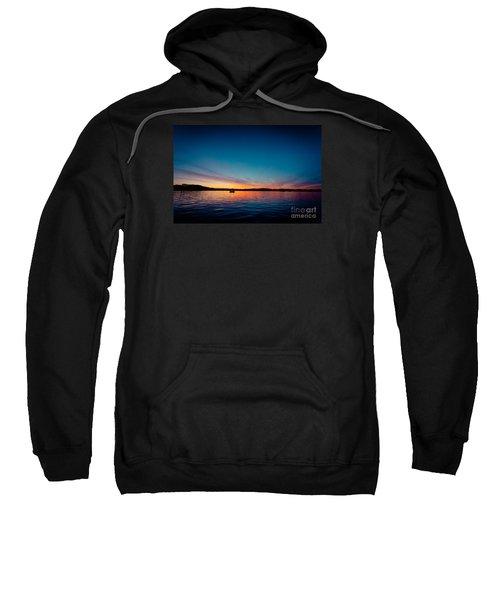 Sunrise Above Lake Water Summer Time Latvia Ezera Skanas Sweatshirt