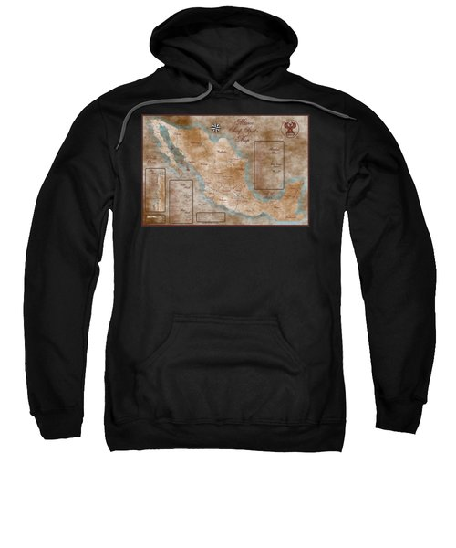 Mexico Surf Map  Sweatshirt