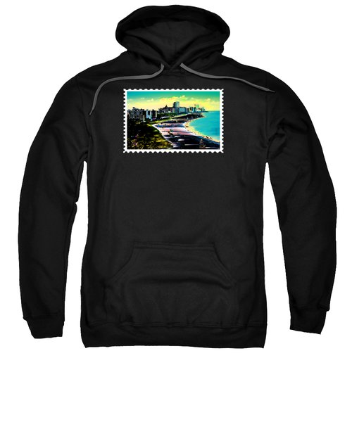 Surreal Colors Of Miami Beach Florida Sweatshirt by Elaine Plesser