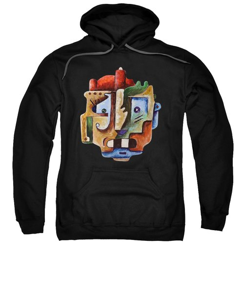 Sweatshirt featuring the painting Surrealism Head by Sotuland Art