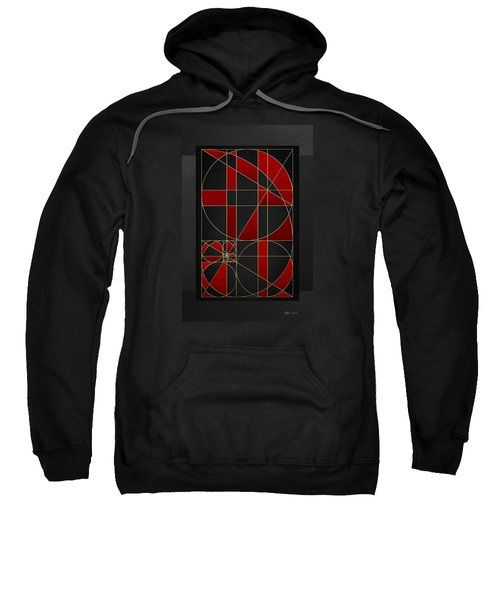 The Alchemy - Divine Proportions - Red On Black Sweatshirt