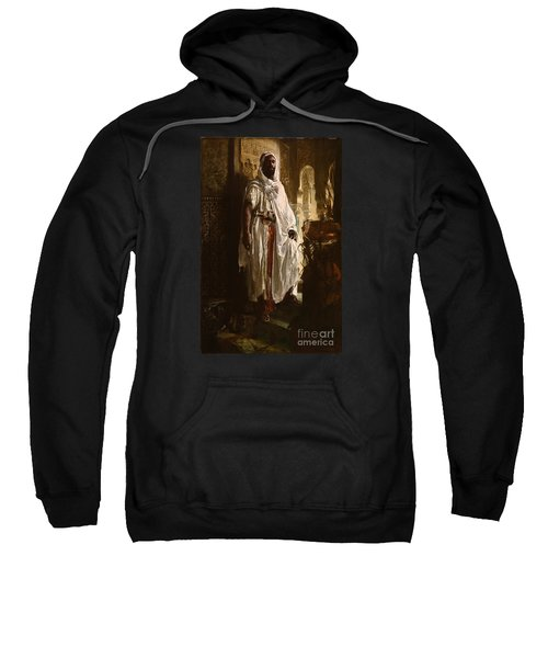 Sweatshirt featuring the painting The Moorish Chief by Eduard Charlemont