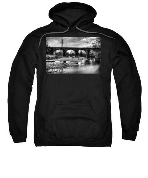 Thomas Viaduct In Black And White Sweatshirt