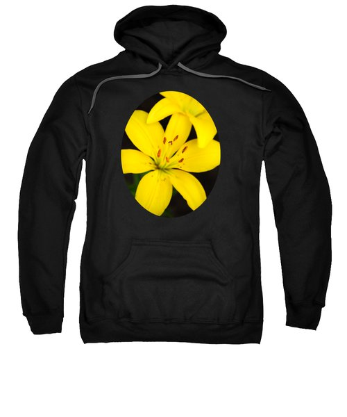 Yellow Lily Flower Sweatshirt by Christina Rollo