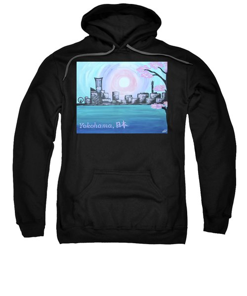 Yokohama Skyline Sweatshirt by Cyrionna The Cyerial Artist