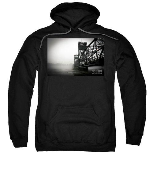 1156 Stillwater Bridge Black And White Sweatshirt