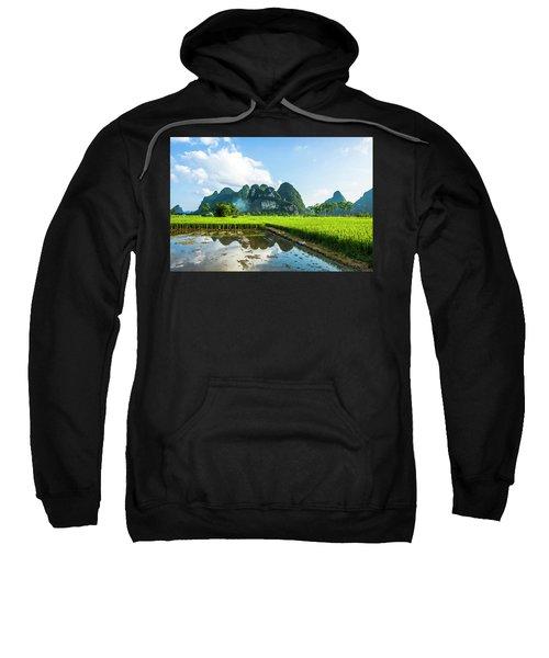 The Beautiful Karst Rural Scenery Sweatshirt