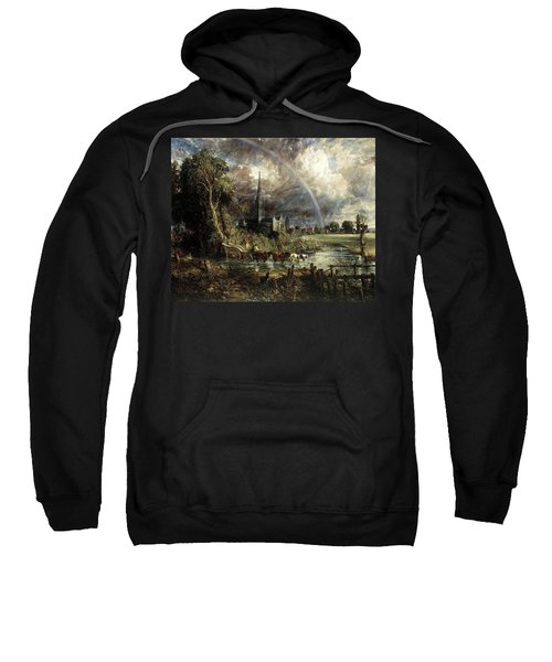 Salisbury Cathedral From The Meadows Sweatshirt