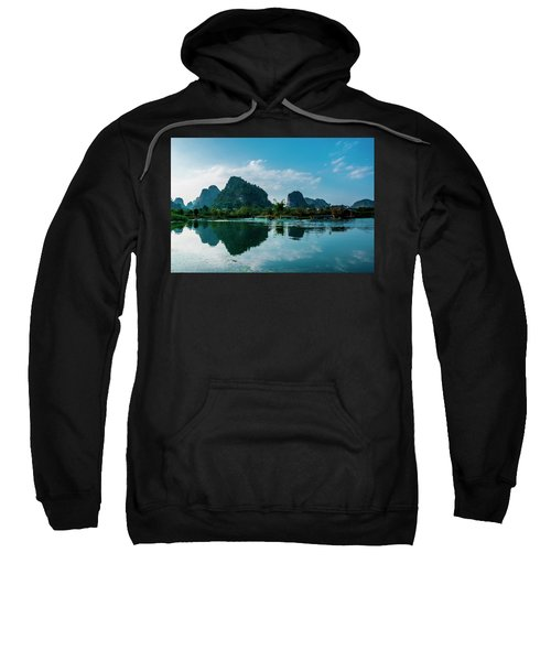 The Karst Mountains And River Scenery Sweatshirt