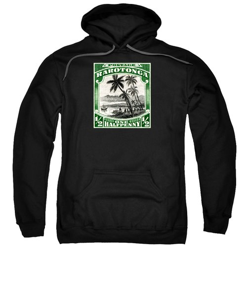 1932 Landing Of Captain Cook Stamp Sweatshirt