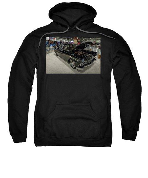 Sweatshirt featuring the photograph 1955 Ford Customline by Randy Scherkenbach