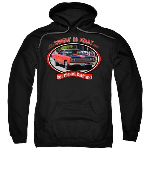 1969 Plymouth Roadrunner Masanda Sweatshirt by Mobile Event Photo Car Show Photography