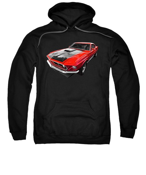 1969 Red 428 Mach 1 Cobra Jet Mustang Sweatshirt