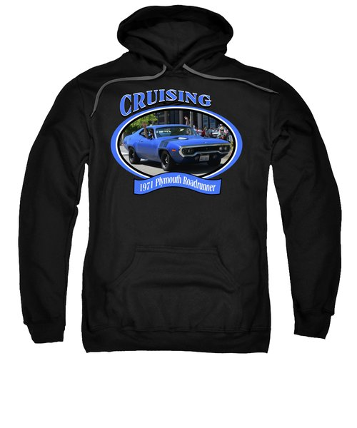 1971 Plymouth Roadrunner Hedman Sweatshirt by Mobile Event Photo Car Show Photography