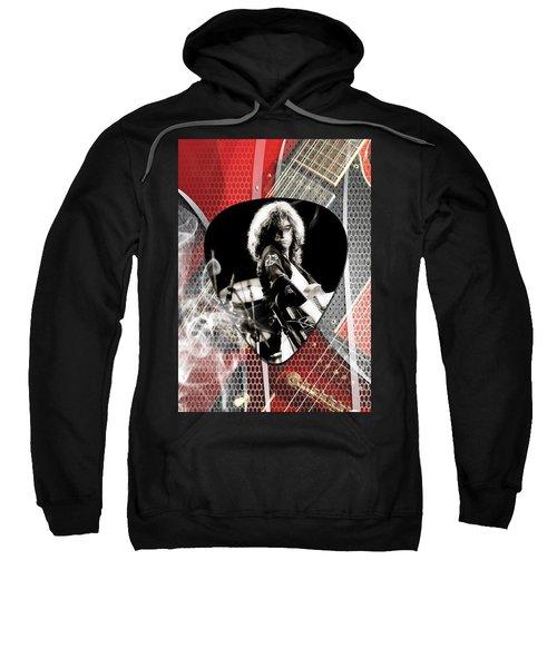 Jimmy Page Art Sweatshirt by Marvin Blaine