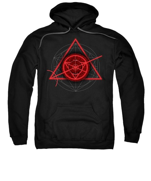 Occult Magick Symbol On Red By Pierre Blanchard Sweatshirt by Pierre Blanchard