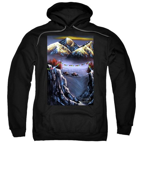 Panoramic View Of Everest Mountain Sweatshirt