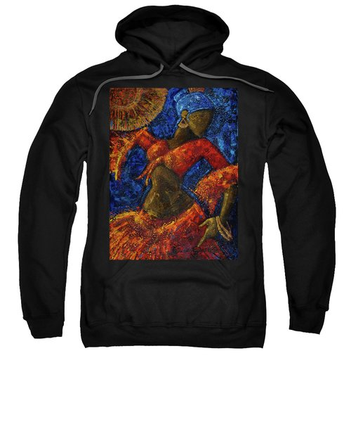 Sweatshirt featuring the painting Passion by Oscar Ortiz