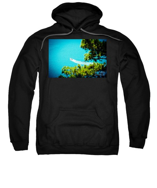 Pine Forest Over Sea Seascape Artmif.lv Sweatshirt