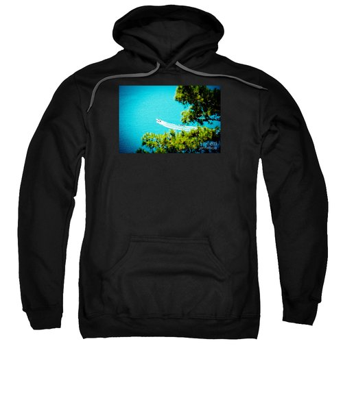 Pine Forest Over Sea Seascape Artmif.lv Sweatshirt
