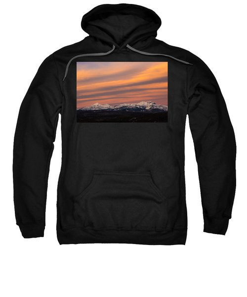 Sunset In Glacier National Park Sweatshirt