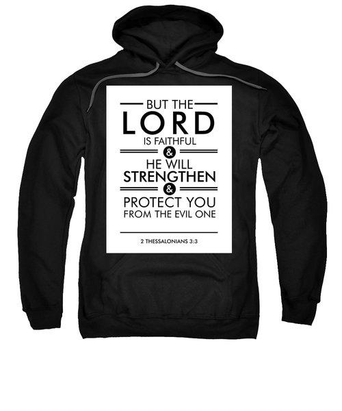 2 Thessalonians 3-3 - Spiritual Wall Art - Bible Verses Art - Minimalist Scripture Sweatshirt