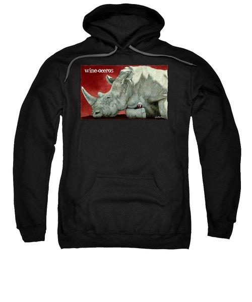 Wine-oceros Sweatshirt by Will Bullas