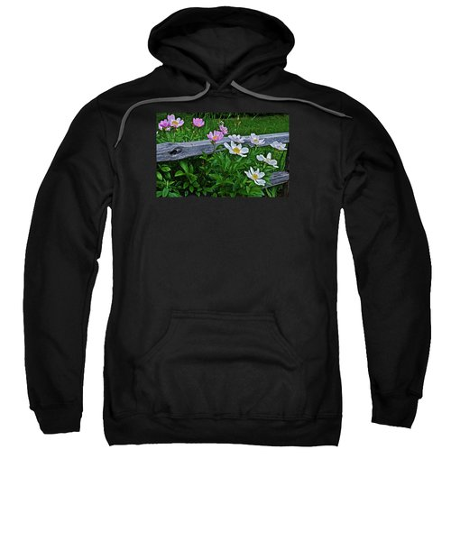 2015 Summer's Eve Neighborhood Garden Front Yard Peonies 2 Sweatshirt