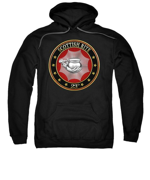 23rd Degree - Chief Of The Tabernacle Jewel On Black Leather Sweatshirt