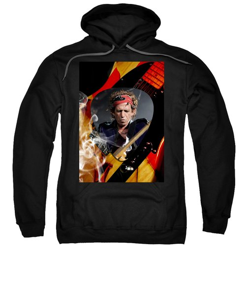 Keith Richards Art Sweatshirt by Marvin Blaine