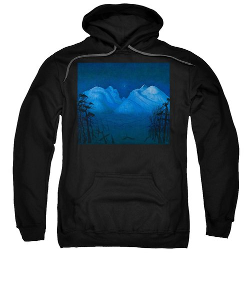 Winter Night In The Mountains Sweatshirt