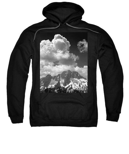 304638 Clouds Over Mt. Stuart Bw Sweatshirt