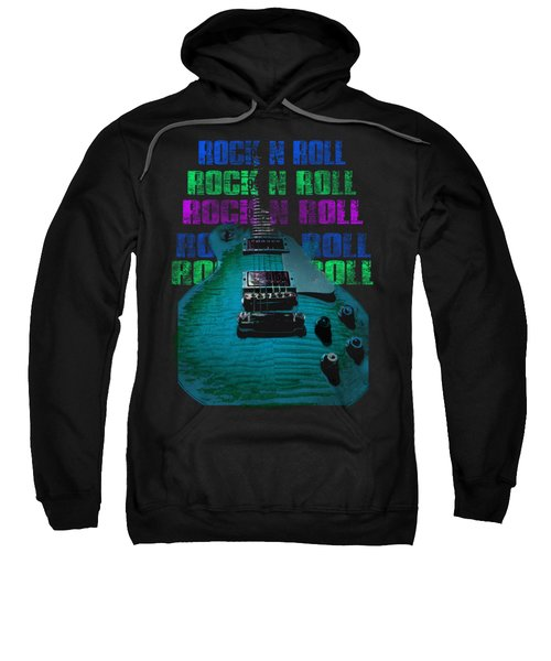 Sweatshirt featuring the photograph Colorful Music Rock N Roll Guitar Retro Distressed  by Guitar Wacky